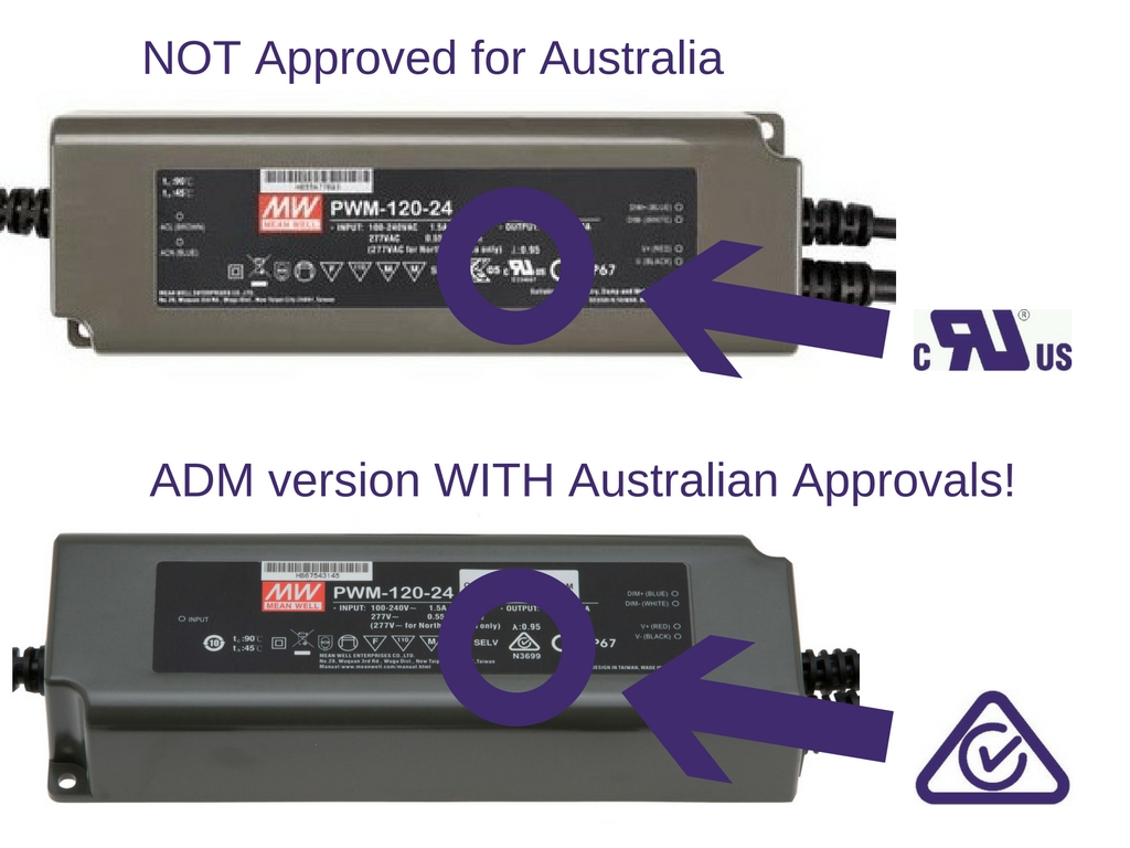 Australian approved MEAN WELL LED drivers