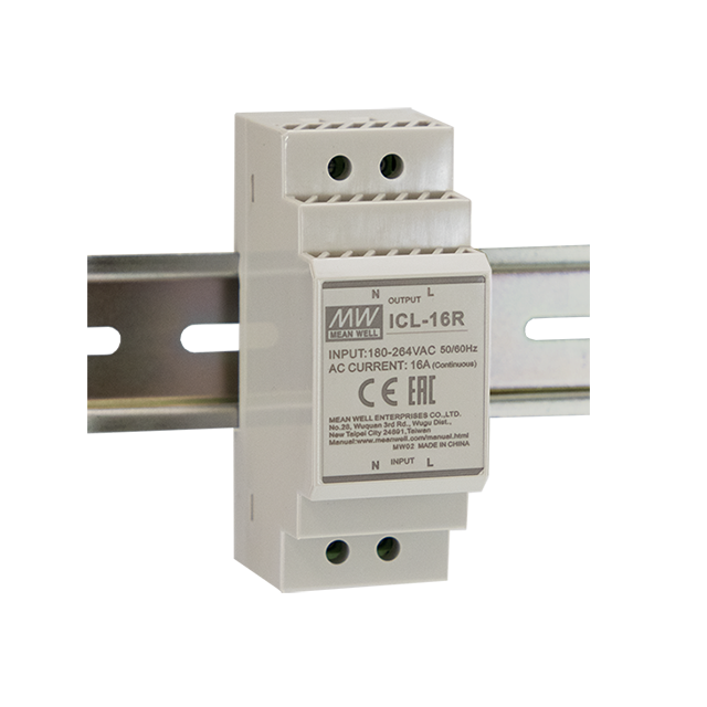 MEAN WELL ICL-16R inrush current limiter DIN rail mount type