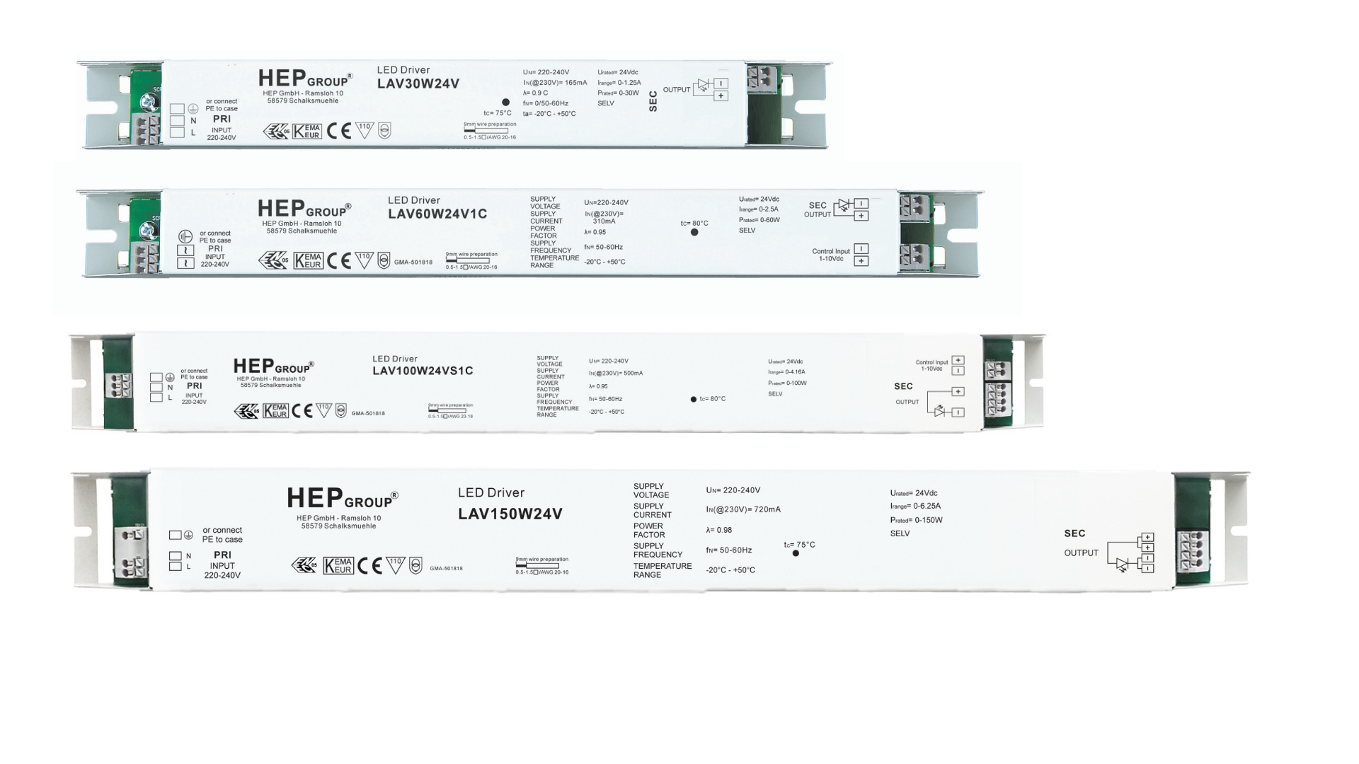 HEP Range of Linear LED Drivers