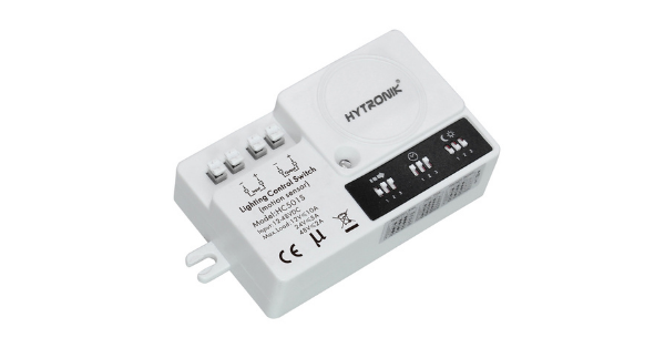DC POWERED MICROWAVE MOTION CONTROLLER WITH BUILT-IN DAYLIGHT SENSOR