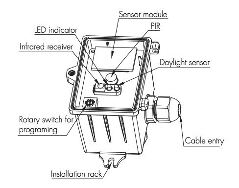 Surface / Ceiling Mount Daylight Harvesting Sensor