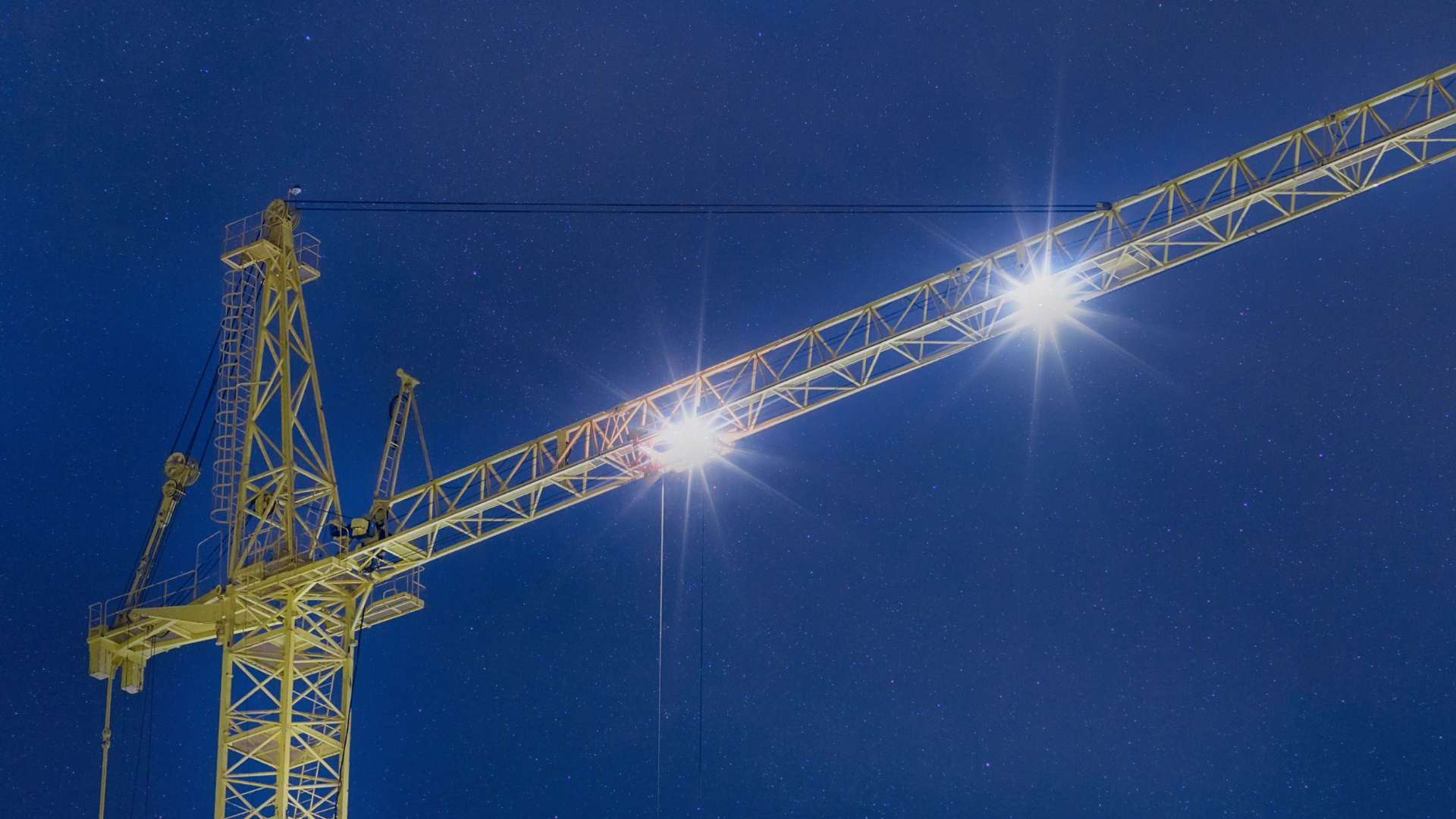 Timed dimming of crane lights