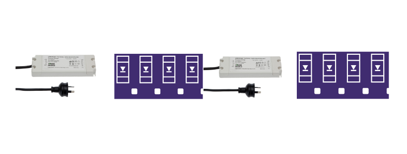 Using multiple power supplies with shorter lengths of led strip
